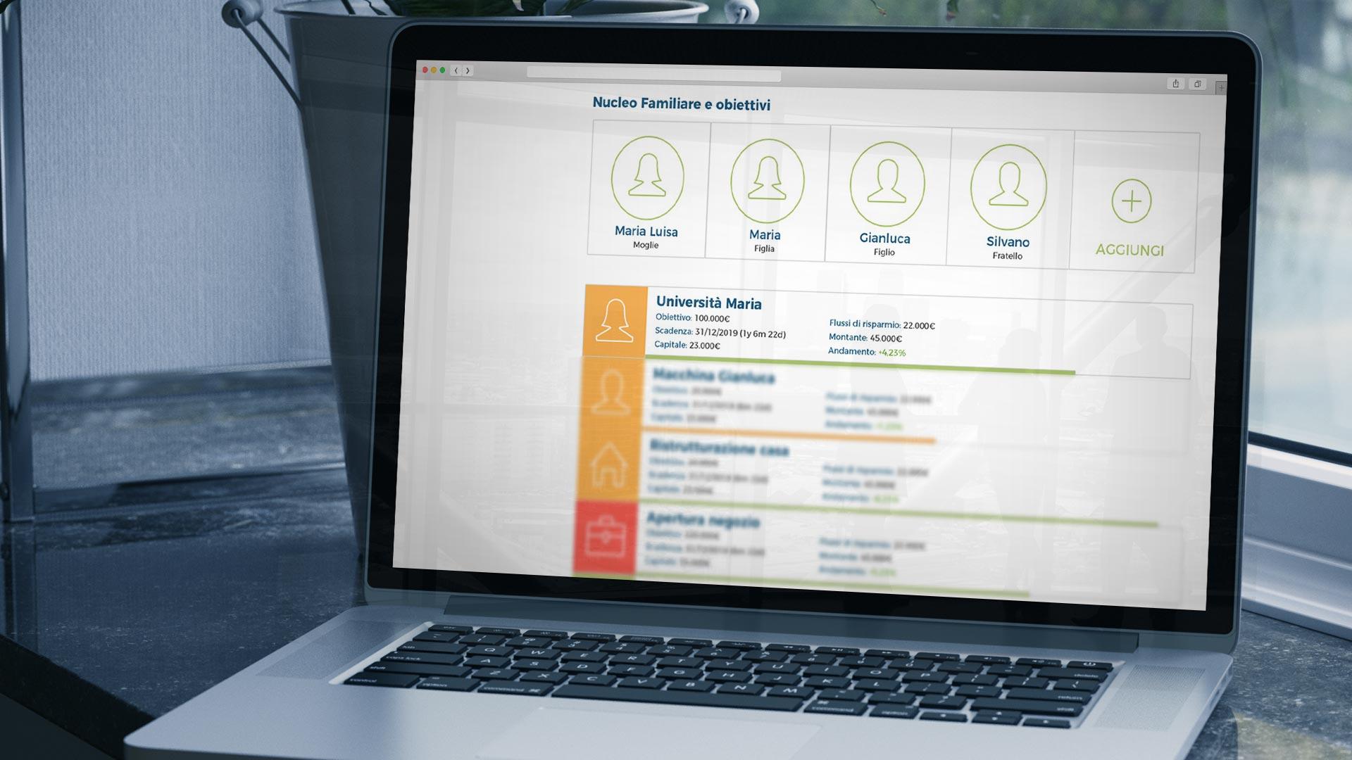 Piattaforma consulenti finanziari indipendenti:  assistenza per obiettivi di vita cliente  - Fairvalyou