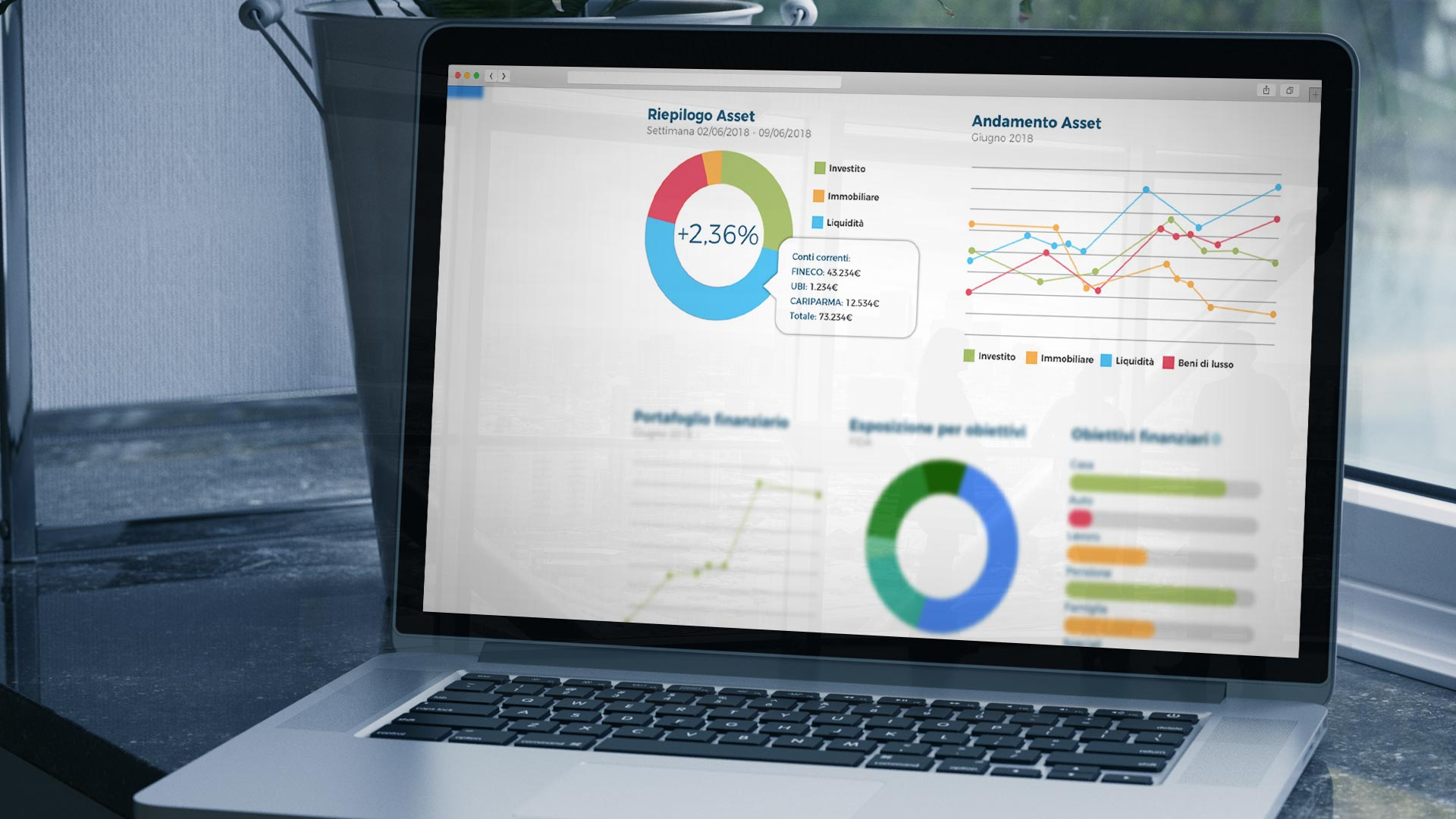 Piattaforma Fairvalyou Riepilogo Asset finanziari e patrimoniali