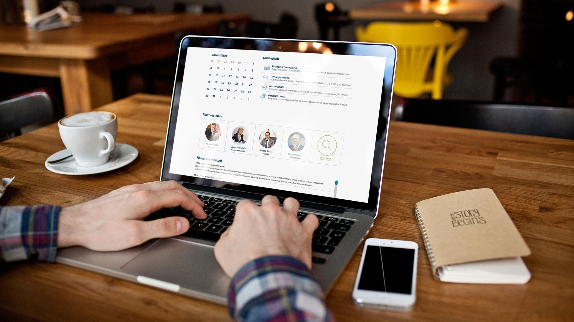 Piattaforma consulenza finanziaria per clienti: informazione completa